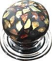 HANDCRAFTED CABINET KNOB ANTIQUE CRACKLE GLASS DESIGN