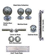 HANDCRAFTED STEEL DOTS COLLECTION DOOR HARDWARE