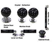 HANDCRAFTED CRYSTAL COLLECTION DOOR HARDWARE