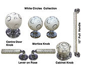 HANDCRAFTED WHITE CIRCLES  COLLECTION DOOR HARDWARE