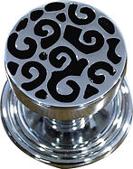 DESIGNER CENTRE DOOR KNOB SWIRL COLLECTION