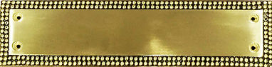 """PUSH PLATE 12X3"""" BRASS PEARL COLLECTION"""