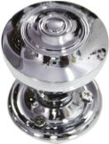 HANDCRAFTED CHROME PLATED MORTICE KNOB HCCK405