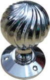 HANDCRAFTED CHROME PLATED MORTICE KNOB HCCK401