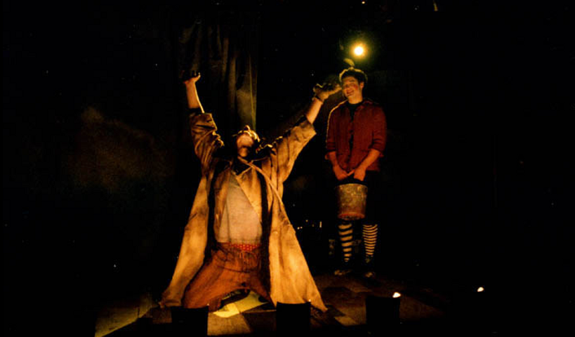 Jeremy Rishe as Ruzzante, with Joe Pauli