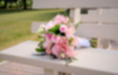 bouquet bride pink white blush greenery