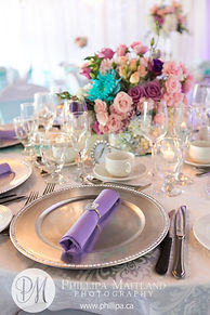Wedding Belles Decor chargers and napkin