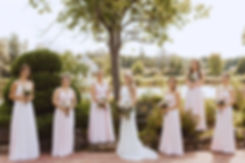 Bride and Bridesmaids in pink photo by A