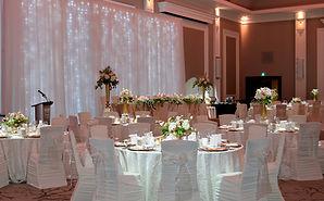 Infinity blush gold wedding head table.j