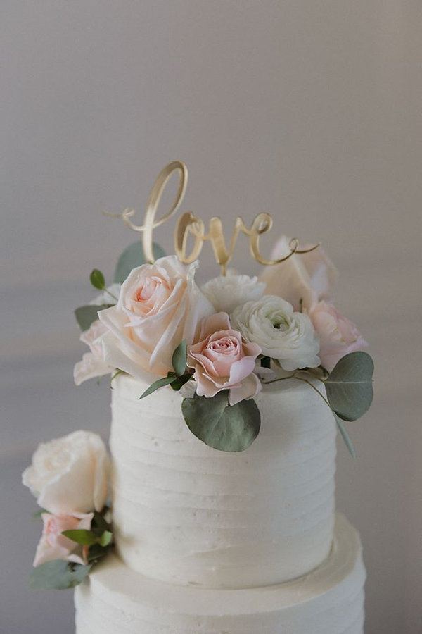 Cake topper blush and white  photo by As