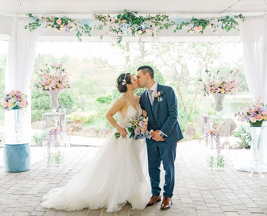 Bride and Groom at Orchardview Pastel Wedding Belles Decor.jpg