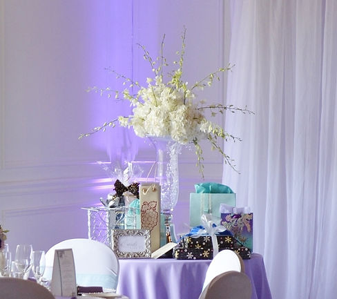 Orchardview gift table pastels orchids b