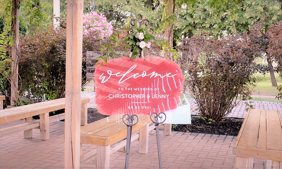 welcome sign orchard view and wedding belles decor.JPG