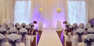 Wedding Belles Decor ceremony purple lav