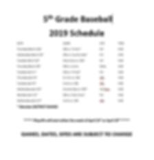 2019 5th Grade Baseball Sked.PNG