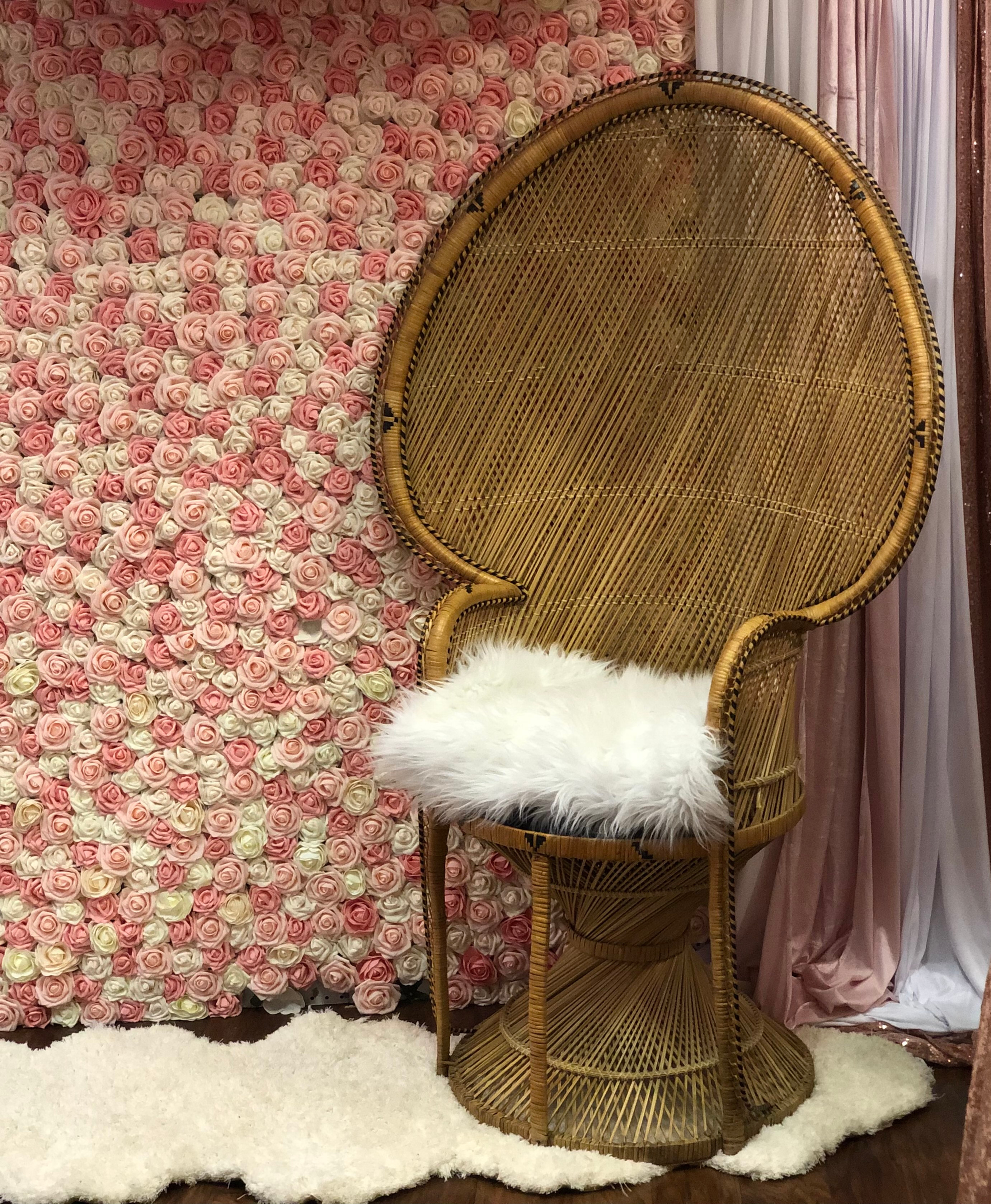 Peacock Boho Style Chair - Tall