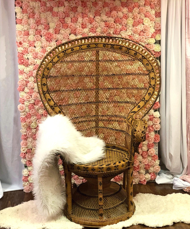 Peacock Boho Style Chair - Short