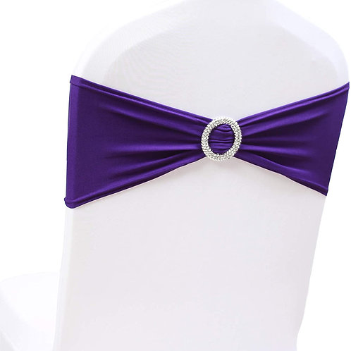 Spandex Chair Bow with Buckle