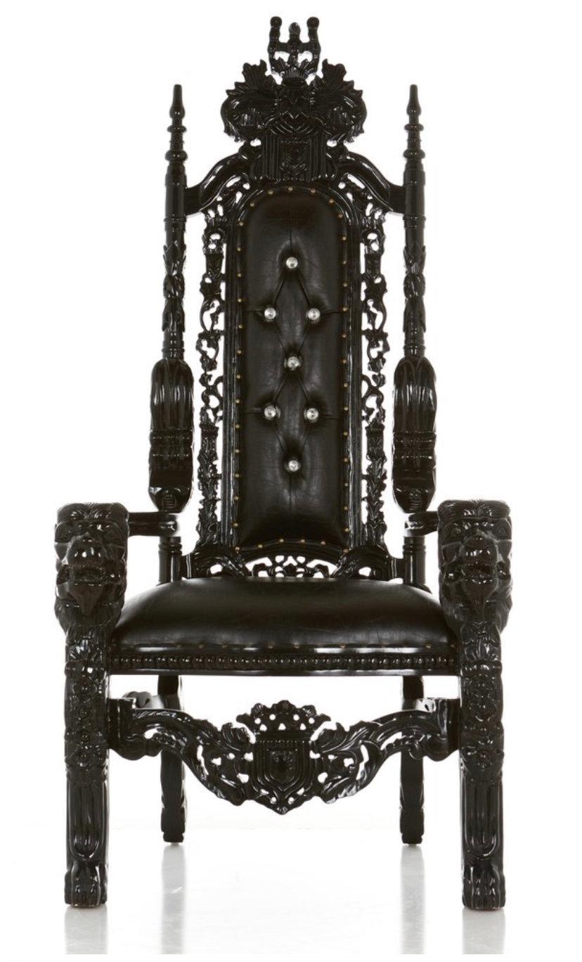 Black Raja Throne Chair