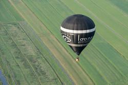 Luchtfoto van luchtballon