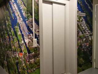 Luchtfoto op parkeergarage Vinkeveens appartementencomplex