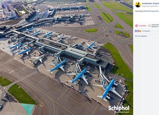 Schiphol vanuit de lucht, luchtfotografie en -video