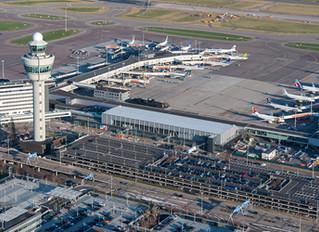 Luchtfoto's nieuwe vertrekhal Schiphol