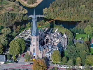 Luchtfoto's Urbanuskerk Bovenkerk na brand