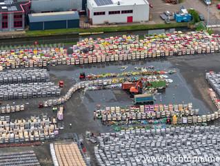 Luchtfoto's tijdens corona crisis, Schiphol, veiling Aalsmeer