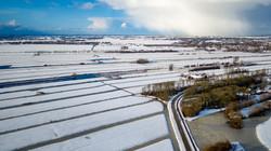 Luchtfoto sneeuwbui