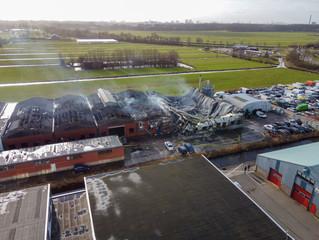 Grote brand verwoest bedrijfsloods in Maarssen