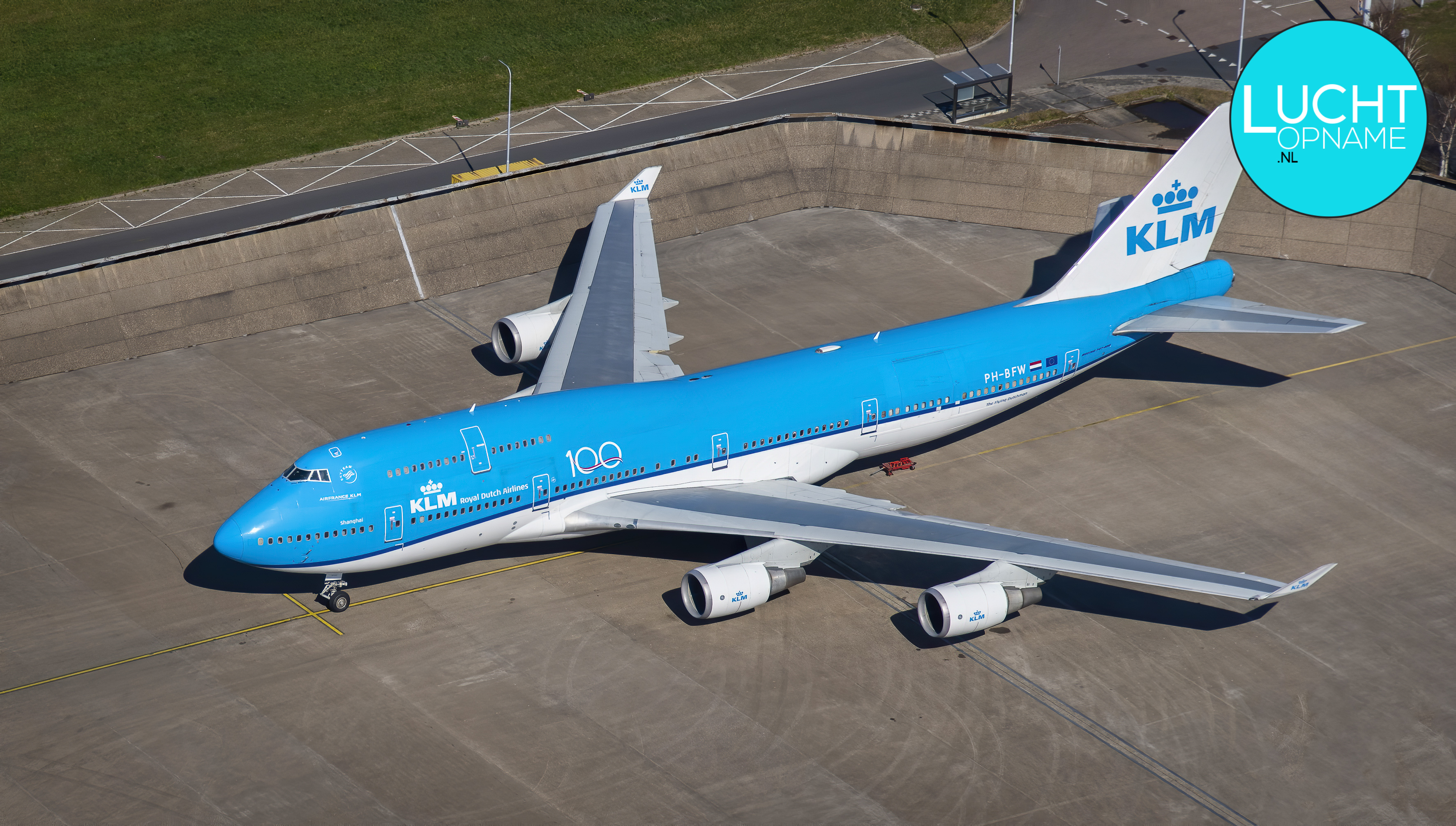 Luchtfoto KLM 747