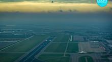 Luchtfoto's Schiphol, november 2020 (o.a. KLM 747)