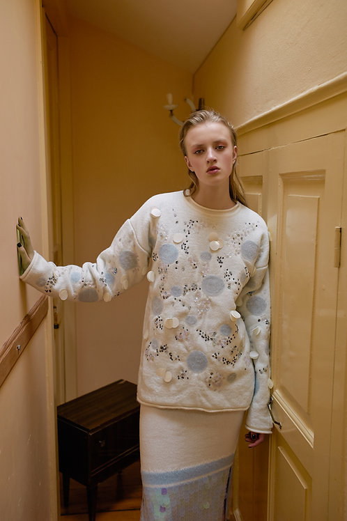 Oversize Knitwear with Sequin