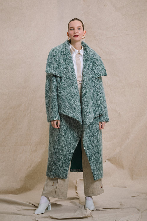 Oversize Wool Blend Coat