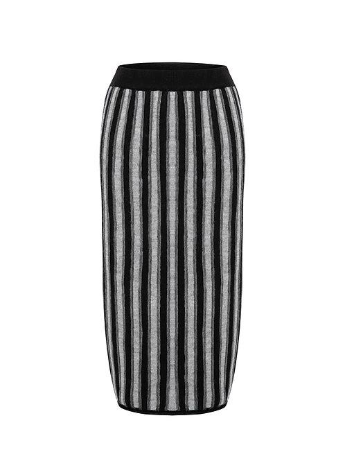 Bold Stripe Skirt