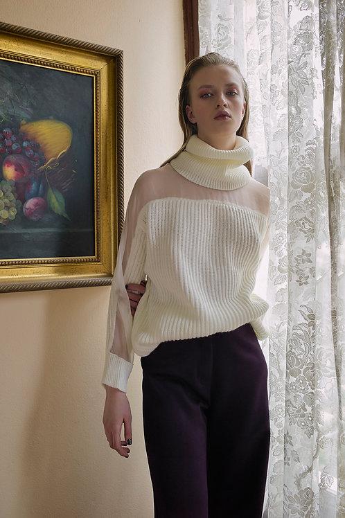 Transparent Detail Knitwear