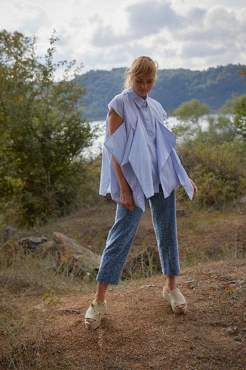 Cotton Blend Stripe Shirt