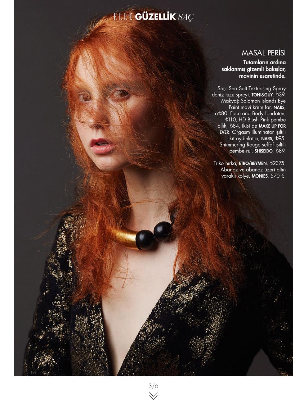 Elle Turkey November Beauty Issue 2015-3