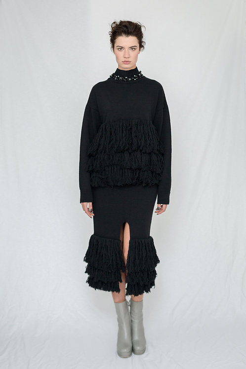 Knitwear with Fringe