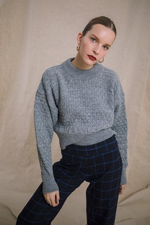 Mock Neck Crop Knitwear