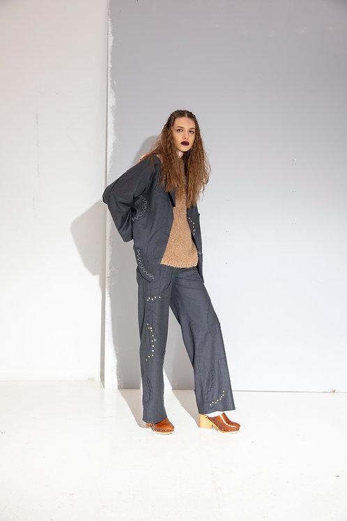 Pervaz Detaylı Pantolon