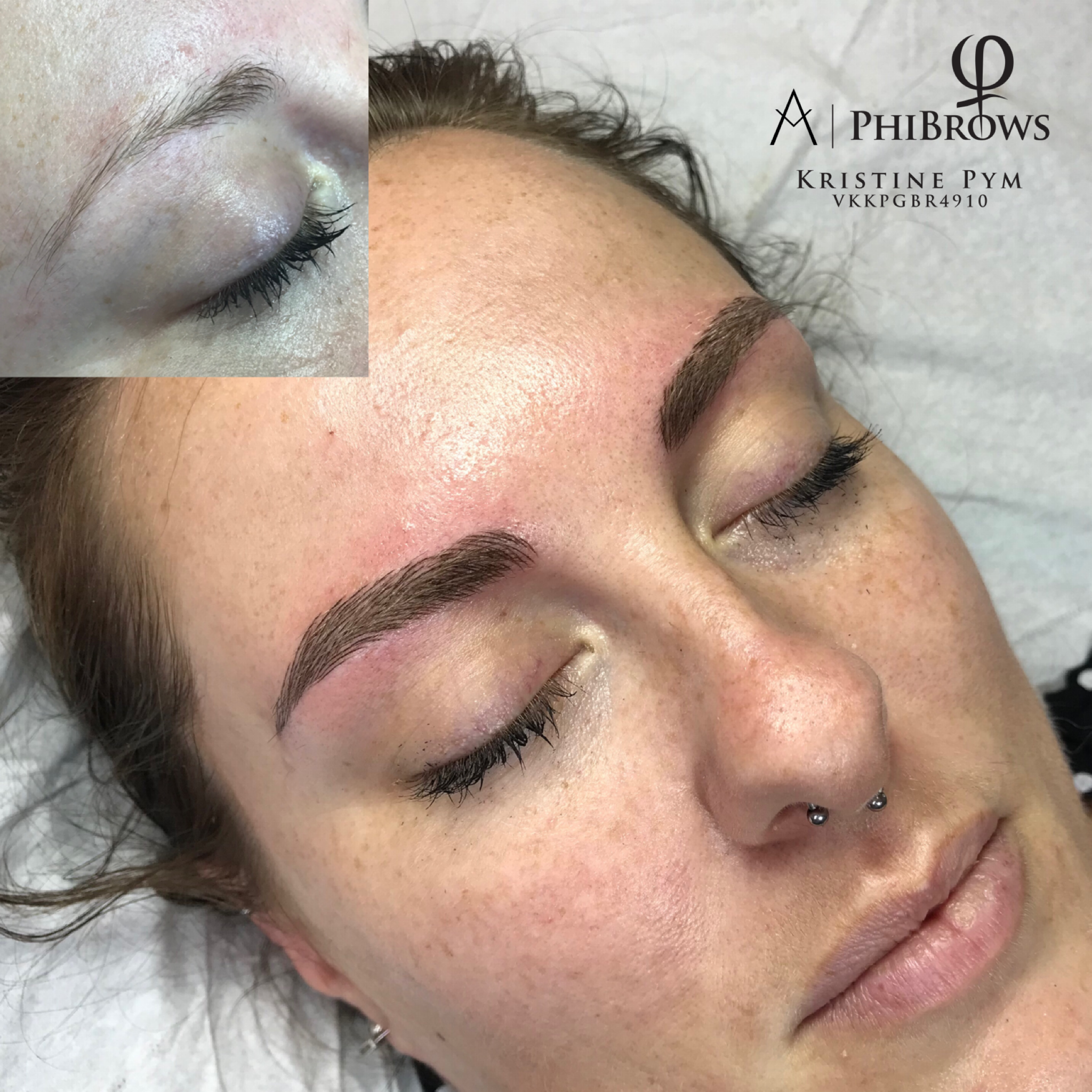 PhiBrows Microblading Before & After