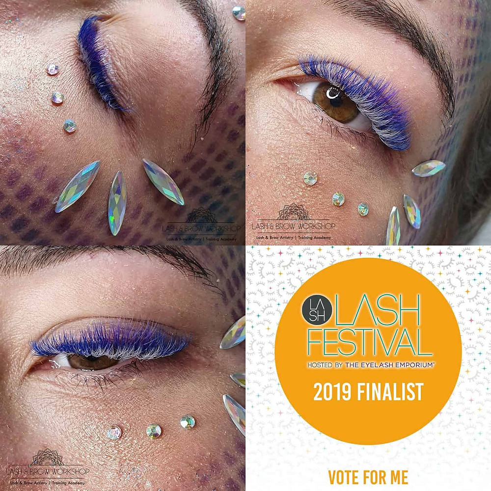 Lash Festival Coloured Lashes in Master Category Finalist Entry