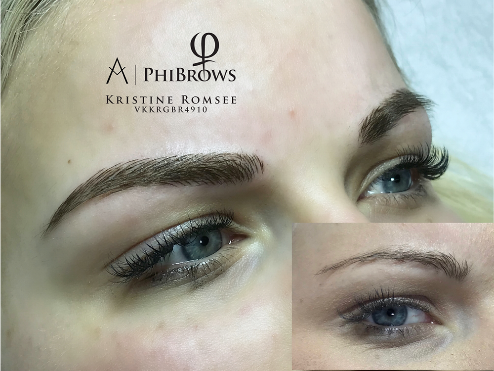Before and After PhiBrows Microblading Torquay Kris Pym Lash & Brow Workshop