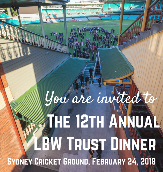 Secure your seats for the 12th Annual LBW Trust Dinner