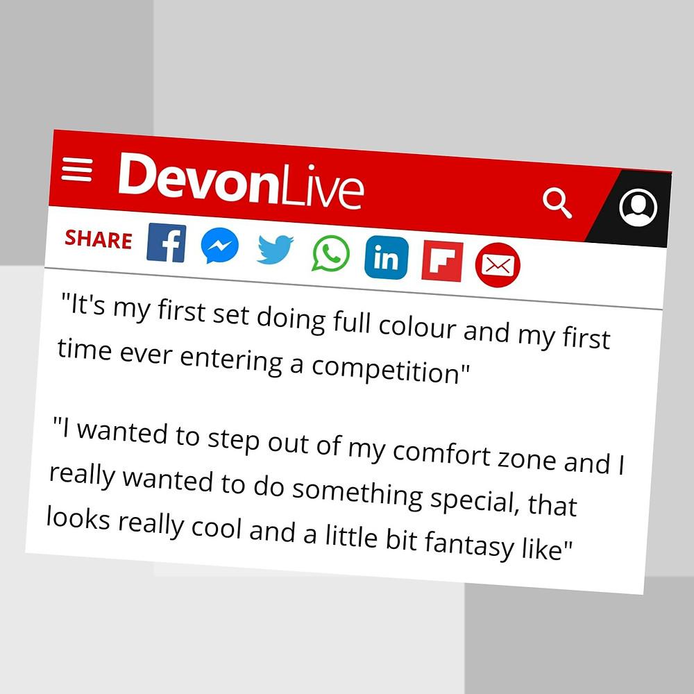 Featured on Devon Live Kris Pym