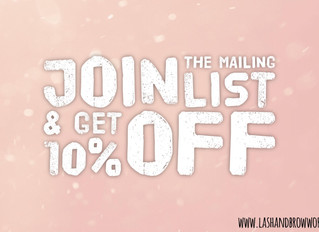 Join the Mailing List & Get 10% Off