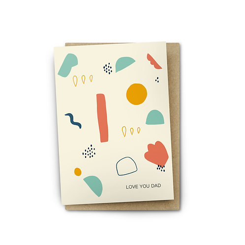 Love You Dad Card $6