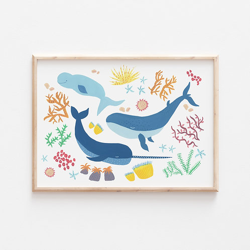 Whale of a Time Print